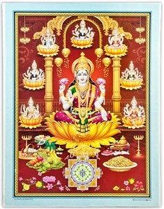Goddess Laxmi With Yantra Art Poster Wholesale