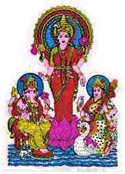 Laxmi Saraswati And Ganesh Sticker