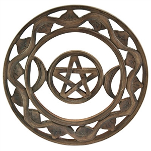 Om Imports Wholesale Triple Moon Wall Hanging